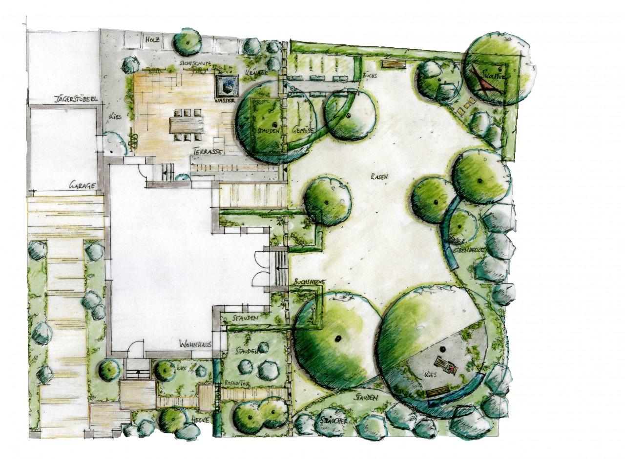 Planung garten und freiraum regine ege und harald conrad - Garten zeichnen ...